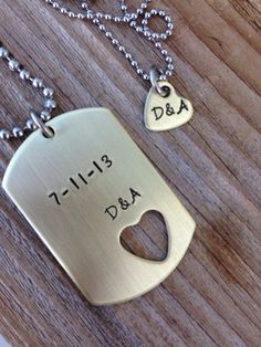 Custom dog tag and necklace brass military tag hand stamped jewlery boyfrie Best Friend Gifts, Gifts For Friends, Gifts For Her, Birthday Gifts For Boyfriend, Boyfriend Gifts, Military Tags, Boyfriend Necklace, Custom Dog Tags, Diamond Cross Necklaces