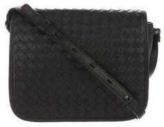 Bottega Veneta Intrecciato Leather Flap Bag
