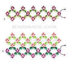 Free pattern for choker Honey-2