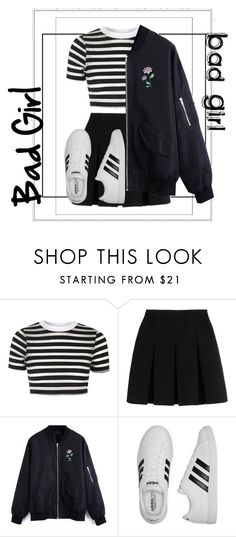 """Bad girl"" by leeshirra on Polyvore featuring Topshop, Alexander Wang and adidas"