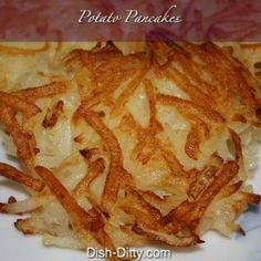 POTATO PANCAKES--it's what's for dinner! YUM!