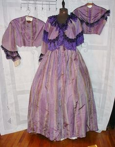 All The Pretty Dresses: Someone really liked purple stripes after the war...