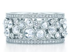 Brides: Tiffany & Co. Platinum band with diamonds, Um, yes please? Photo: Courtesy of Tiffany & Co. Featured In: Unique Wedding Bands with Creative . Tiffany Und Co, Tiffany & Co., Tiffany Wedding, Unique Wedding Bands, Wedding Rings For Women, Engagement Solitaire, Wedding Engagement, The Bling Ring, Jewelry