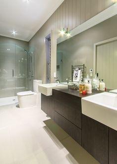 #bathroom #twinvanity #spaciousshower #tileideas #floatingvanity #shower #interiordesign