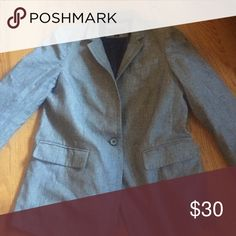 J. Crew blazer Size 8, chambray blazer. Very easy to dress up or down! j crew Jackets & Coats Blazers