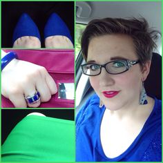#DYTType4 #ootd for church. Didn't get a full outfit shot. Just one of those days. Skirt from #Zulily. Shoes from #JustFab. Bracelet and ring from #paparazziaccessories(link in profile). Earrings from #599Fashion. #MicheDemi #Ruby shell. #MicheFashion #dyt #dressingyourtruth #type4bold #wiw #wiwn #wiwt #instafashion #MomFashion #boldlips