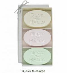 Signature Spa: 3 Bar Soap Gift Set, Deck the Halls Design