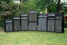 A buttload of Sunn amps. Woah.