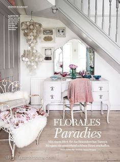 Tamsyn Morgans | My Home Feature In TraumWohnen Magazine Interior Design Jobs, Vintage Dressing Tables, Country Living Magazine, Mount Pleasant, Beautiful Space, Beautiful Images, Bedroom Vintage, Vintage Magazines, French Decor