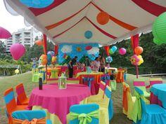 la decoración de fiestas infantiles idea preiciosa en colores diferentes