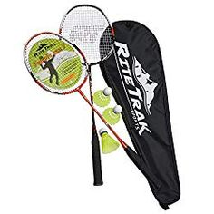 New RiteTrak Sports FiberFlash 7 Badminton Racket Set, Featuring 2 Carbon Fiber Shaft Racquets, 3 Shuttlecocks Plus Fabric Carrying Bag All Included - Choose Your Favorite Colors online - Herearetopshopping Best Badminton Racket, Badminton Games, Tennis Racket, Olympic Games Sports, Olympic Gymnastics, Little Sport, Wrestling Shoes, Racquet Sports, Rackets