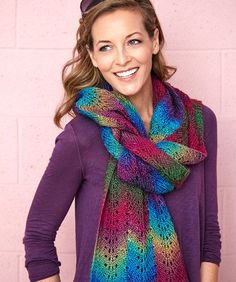 Bargello Knit Scarf