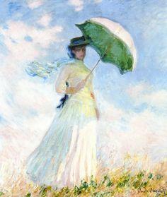 クロード・モネ『日傘の女 』