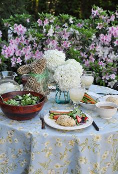 beautiful outdoor supper