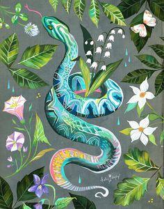 Garden Snake by Katie Daisy