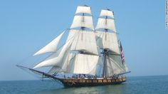"""""""The U.S. Brig Niagara will win this summer's re-enactment of the 1813 Battle of Lake Erie. Niagara's captain says it's the largest wooden square-rigged sailing ship in the United States that still takes people sailing""""."""