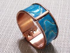 Rare MATISSE RENOIR Bracelet Copper Turquoise by TheCopperCat