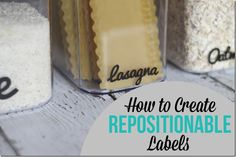 How to Create Repositionable Labels