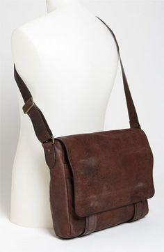 messenger bag suede / leather