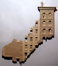 Deja Vu - Buildings - Gallery - John Brickels, Architectural Sculpture and Claymobiles, Essex Jct, Vermont