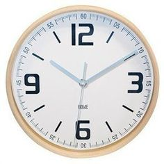 Wall Clock Wood with White Face