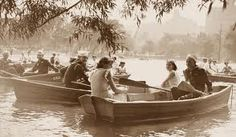 1934 rowing in Central Park- my favorite