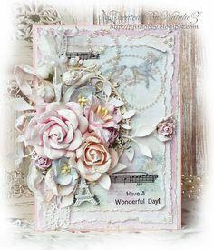 My Creativity Life...: Цветочная открытка... Этап №1 для СП Весенние Открытки.