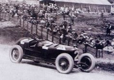 Antonio Ascari winning the inaugural Belgian Grand Prix at the 9 mile circuit at Spa in 1925.