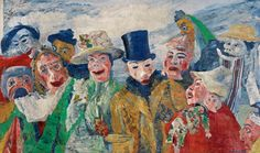 James Ensor One of the most spell- binding artists ! Viewing this painting is a timeless gift ...