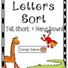 FREE! This letter sort will help your students begin to learn the difference between tall, short, and hang down letters! This sort should help your stude...