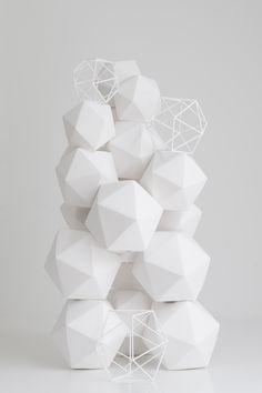porcelain kubus table object white x