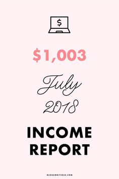 July 2018 Income Rep