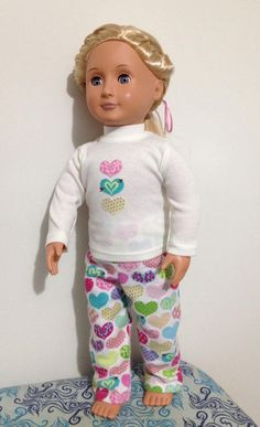 Pyjamas for 18in American Girl or Our Generation dolls