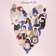 L O V E = S T R E N G T H  #womankind #womanhood #femalestrength #selflove #girlpower #womanhood #feminism #strength #love #tampontribe ❣️ repost: the crazy talented @tylerfeder  illustrating womanhood !