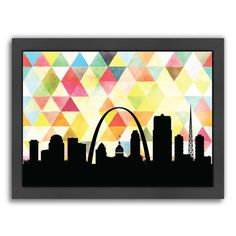"East Urban Home Saint Louis Triangle Framed Graphic Art Size: 20.5"" H x 26.5"" W x 1.5"" D"