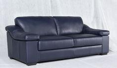 Blue Sofa! #blue #leather #sofa