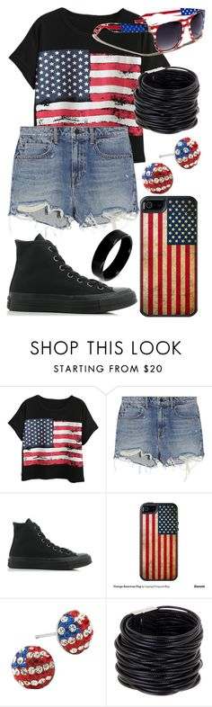 """Don't Wanna Be An American Idiot (Song By Green Day)"" by arithegeek11 on Polyvore featuring Chicnova Fashion, Alexander Wang, Converse, OtterBox, Saachi and West Coast Jewelry"