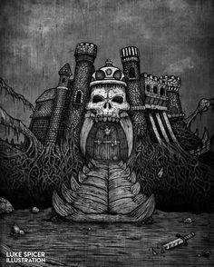 Castle Grayskull etching.