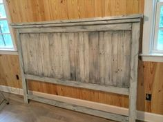 king headboard made of pallets