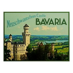 Bavaria Germany Neuschwanstein Castle Posters