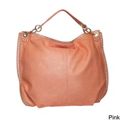 Lithyc 'Katrina' Shoulder Hobo with Studded Trim | Overstock.com Shopping - Great Deals on Hobo Bags