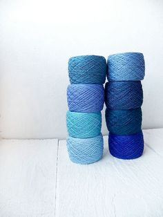 blue Crochet Thread collection  high quality 100% by YarnStories