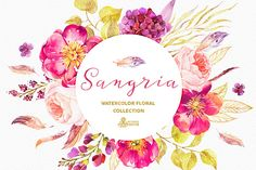 This set of high quality hand painted watercolor floral Elements in Hires. Perfect graphic for wedding invitations, greeting cards, photos, posters, (Diy Art Watercolor) Watercolor And Ink, Watercolor Flowers, Watercolor Painting, Corona Floral, Clip Art, Deco Floral, Burgundy And Gold, Diy Invitations, Creative Sketches