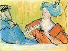 Marianne von Werefkin (1860-1938) Marianne wil zich volledig wijden aan de carrière van Jawlensky en negen jaar lang zal ze niet schilderen. Men voert hiervoor verschillende redenen aan. Mogelijk vond ze dat hij over meer talent beschikte dan zijzelf; ook de vrees dat men haar als vrouwelijke kunstenaar niet op waarde zou weten te schatten kan een rol hebben gespeeld. De problemen met haar rechterhand kunnen eveneens een mogelijke oorzaak zijn.