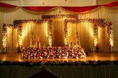 41 Luxury Wedding Decorations India with Since you have picked your wedding setting, you would need to get down to the bare essential of wedding stylistic layout arranging. You can generally . Reception Stage Decor, Wedding Stage Backdrop, Wedding Mandap, Wedding Receptions, Wedding Garlands, Reception Backdrop, Wedding Dresses, Simple Stage Decorations, Wedding Hall Decorations