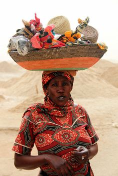 Beach Vendor Of Senegal