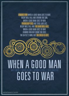 when a good man goes to war | Tumblr