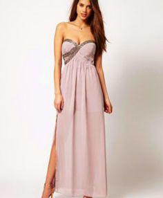 Asos sequined maxi dress