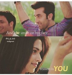 smile on my face is coz of me Dippy Famous Dialogues, Movie Dialogues, Heart Touching Lines, Heart Touching Shayari, Besties Quotes, True Love Quotes, Yjhd Quotes, Movie Quotes, Life Quotes