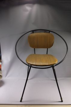 Mid Century 50's Eames Era Mid Century Modern Child's Clam Shell Iron Hoop Chair.epsteam